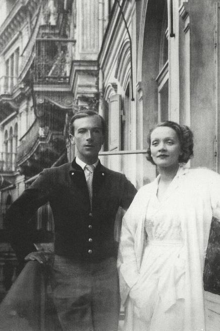 Cecil Beaton & Marlene Dietrich vacationing in Bavaria,1936