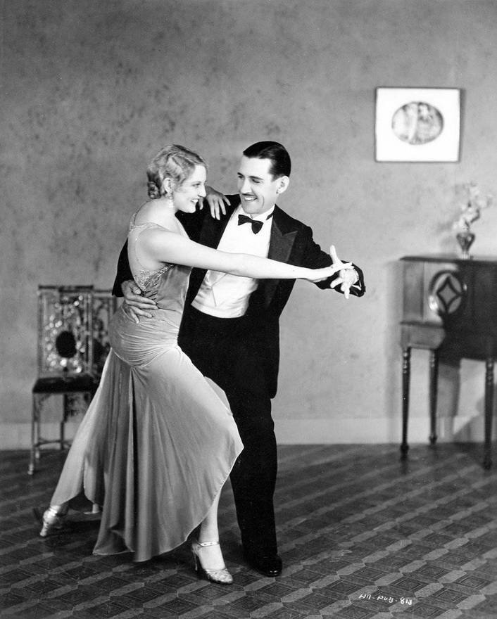 """Charley Chase and Thelma Todd in """"Whispering Whoopie"""",1930"""