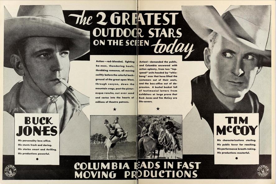 Cowboy movie stars, circa1930