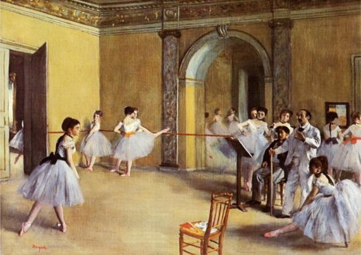 Ballet studio by Edgar Degas