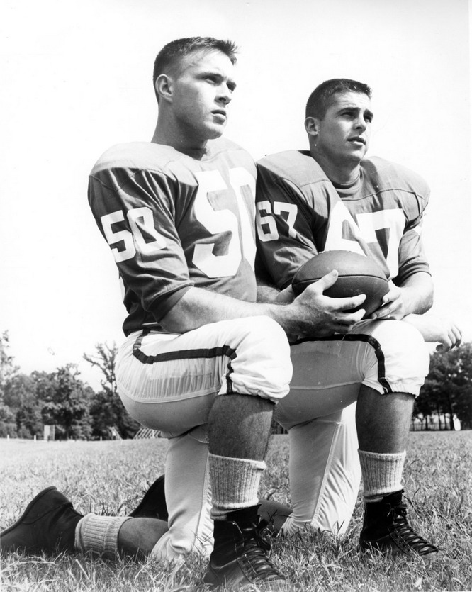 Vintage football players