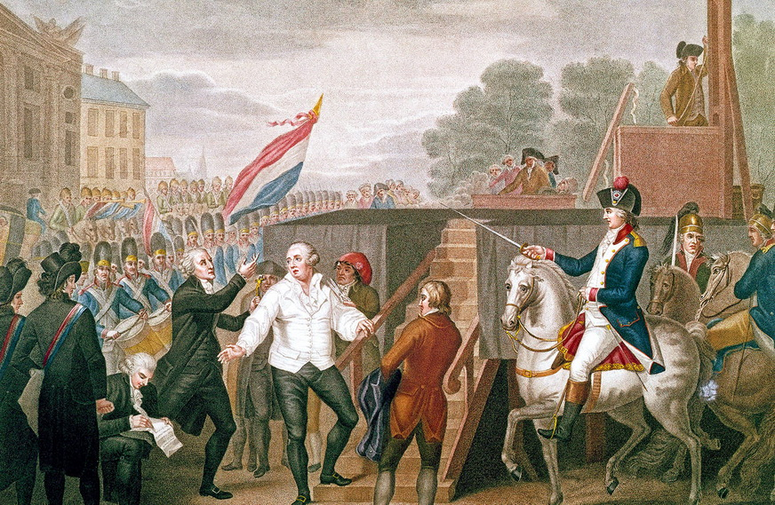 Building a guillotine during the FrenchRevolution