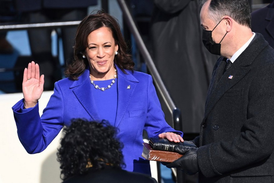 Glass ceiling being smashed: Kamala Harris being sworn in as VicePresident