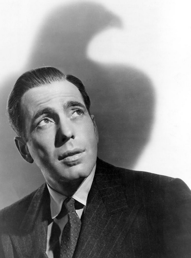 "Humphrey Bogart in a promo shot for ""The Maltese Falcon"""