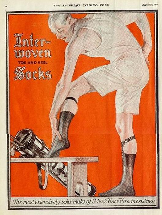Inter-woven socks, 1917