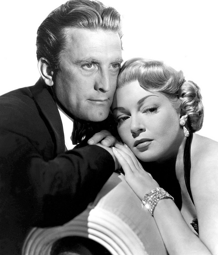 "Kirk Douglas and Lana Turner in ""The Bad And The Beautiful"""