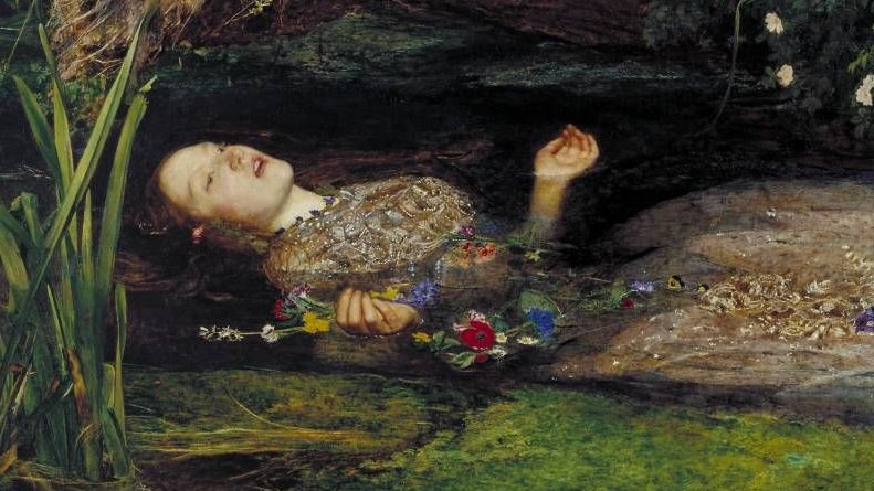 "Lady in the lake: ""Ophelia"" by Sir John Everett Millais"