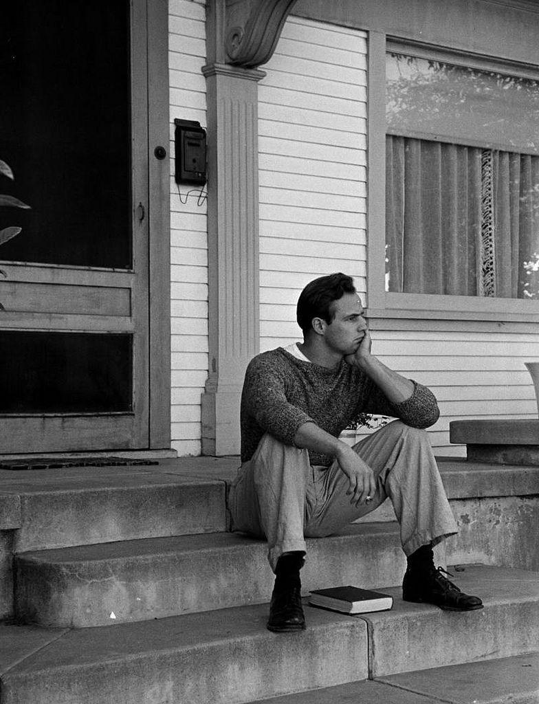 Marlon Brando at home, circa1950