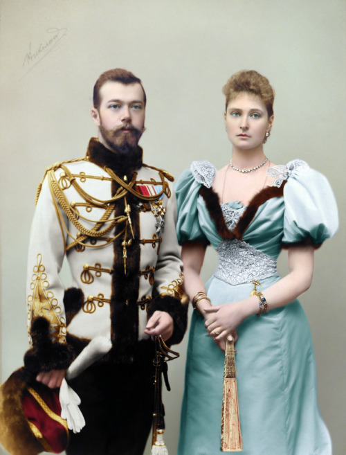 Tsar Nicholas II and his wife AlexandraFeodorovna