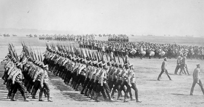 Russian Army mobilizing during WWI