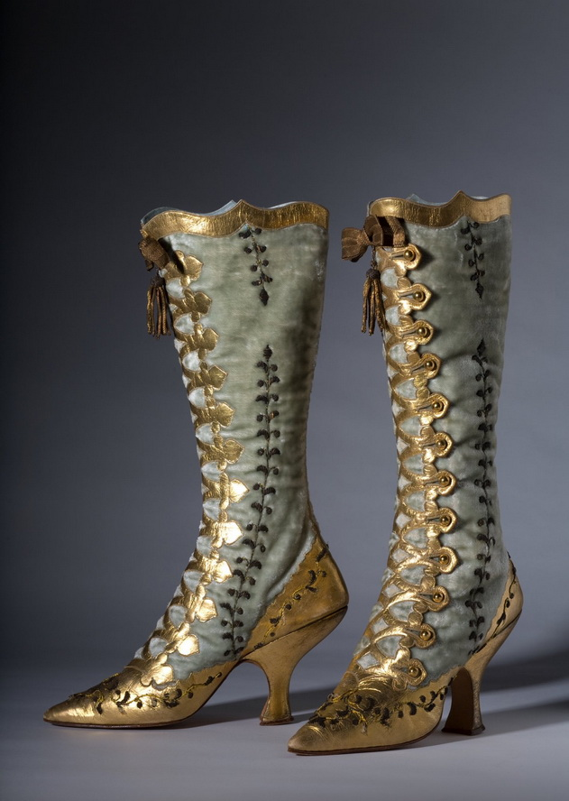 Women's shoe-boots, 1800s