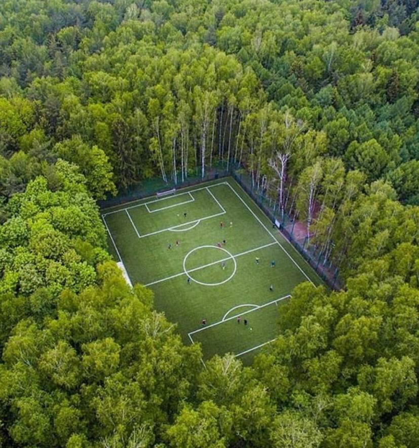 Soccer/Futbol Field in the Forest,Russia