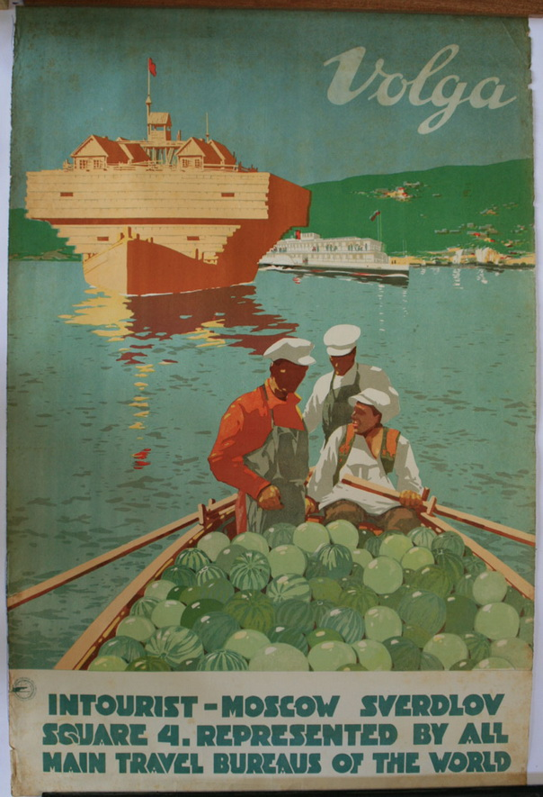Volga River cruises, Soviet Union