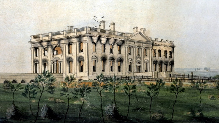 The White House after the British burned it during the War of1812