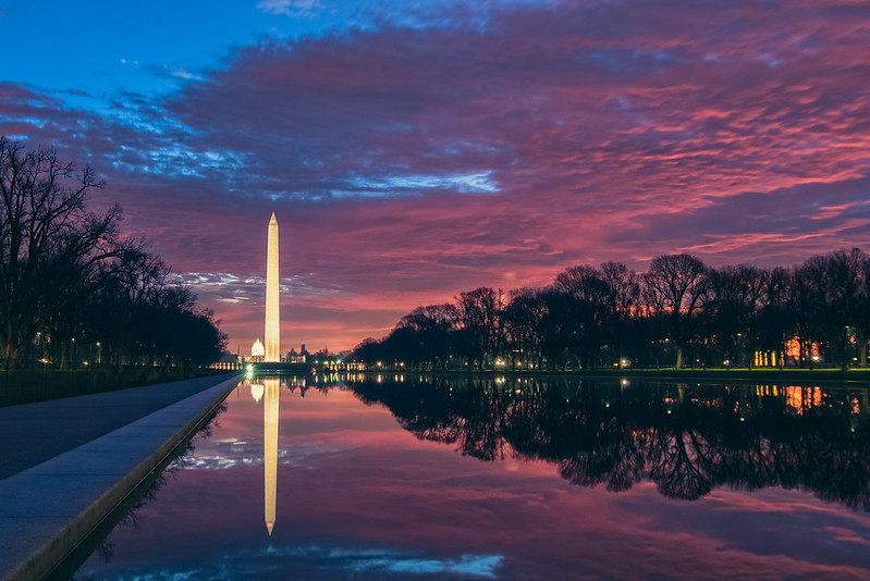 Sunset in WashingtonDC