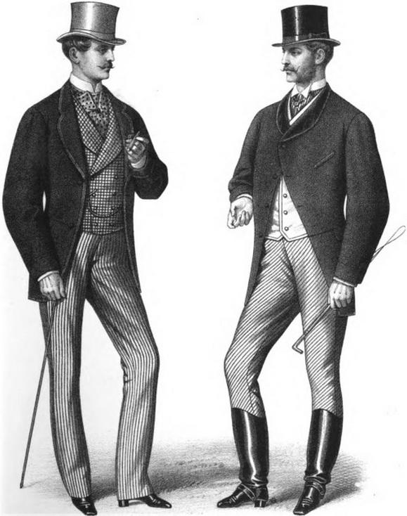 Men's fashion, 1868