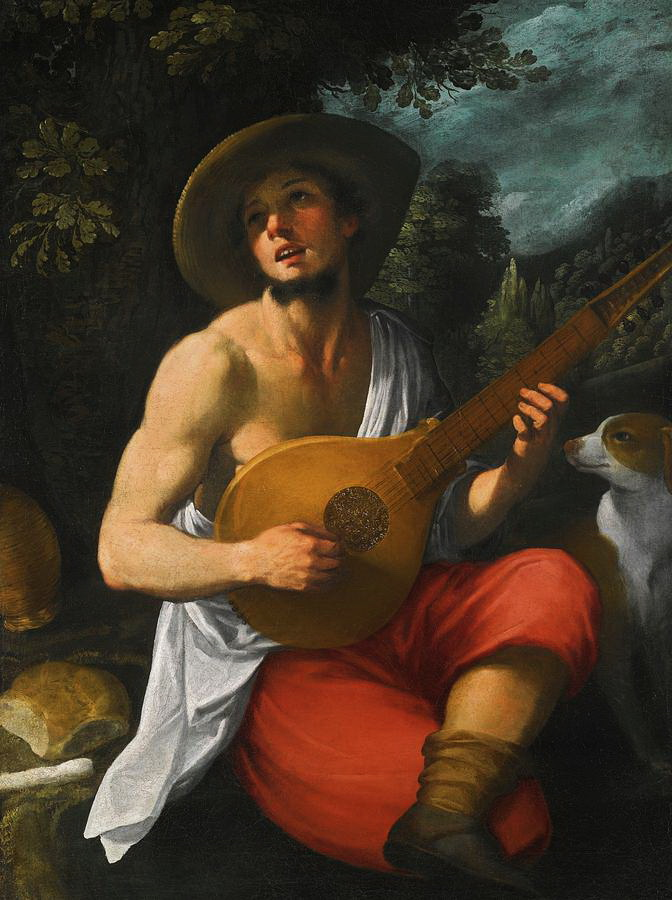 """""""A Youth Playing a Guitar"""" by AstolfoPetrazzi"""