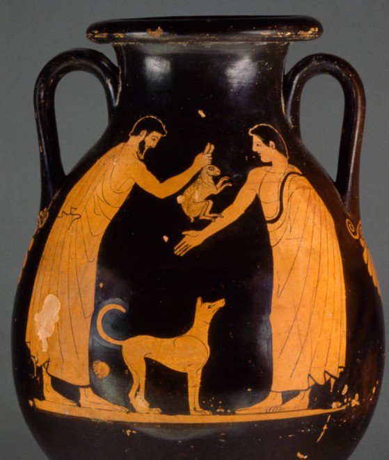 Ancient Greek hunting dog