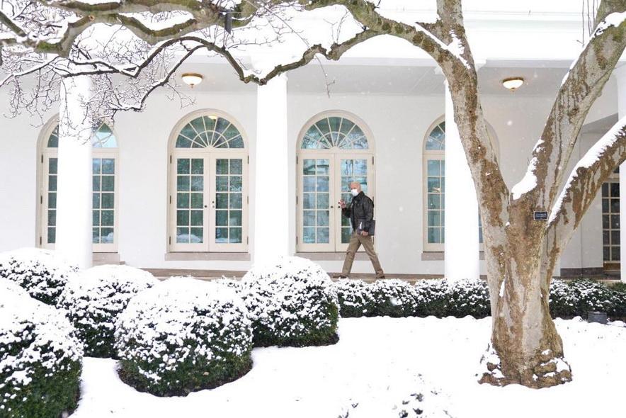 President Biden walking outside the White Houseyesterday