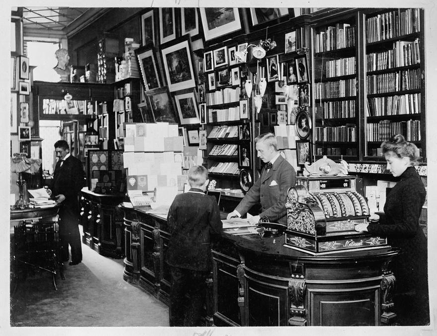 Bookstore in Copenhagen, Denmark,1899