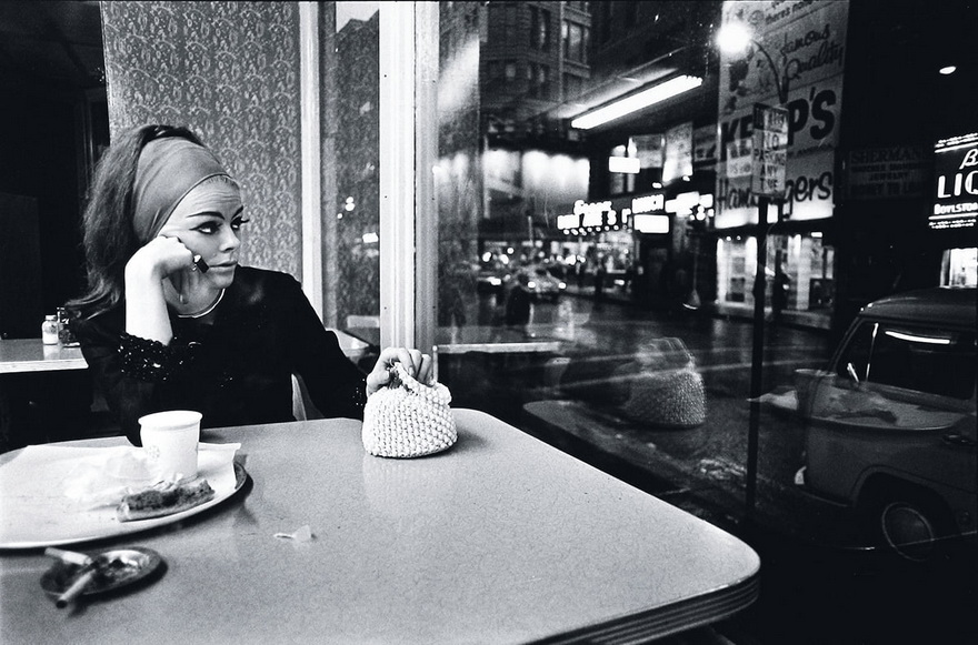 Woman in a diner, Boston, 1960s