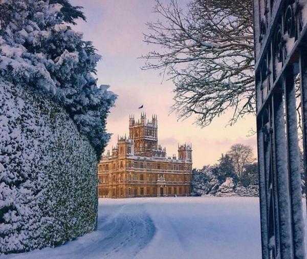 Castle in winter,UK