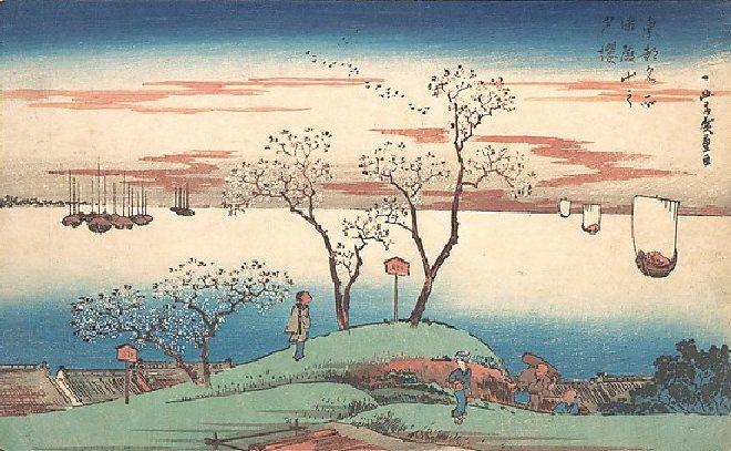 Woodblock print by Hiroshige,1831