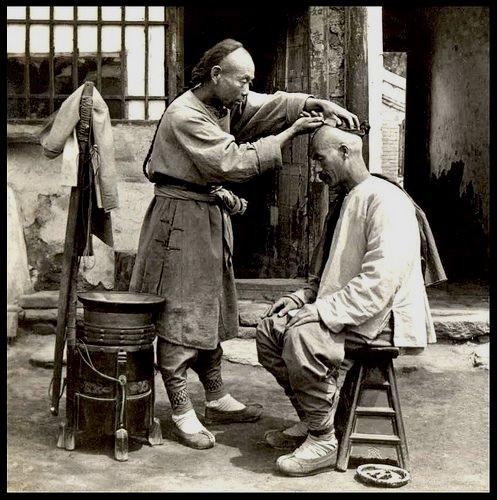 Vintage Chinese barber