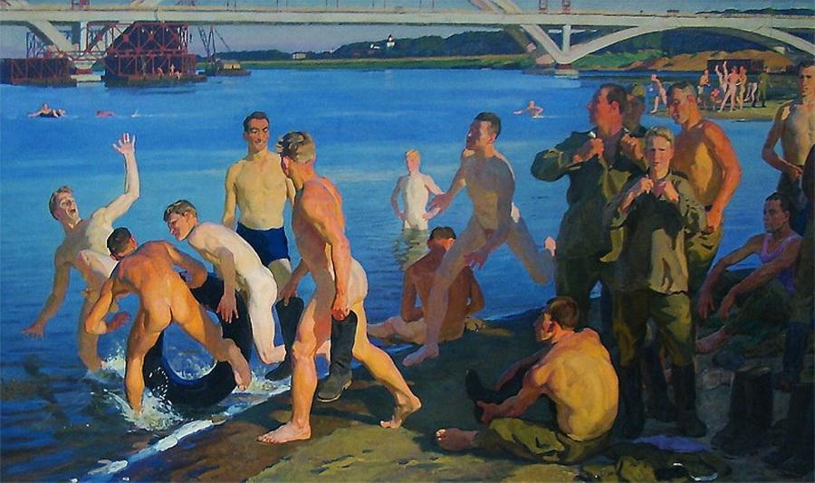 "Dimitri Zhilinski, ""Bathing Soldiers"", USSR,1959"