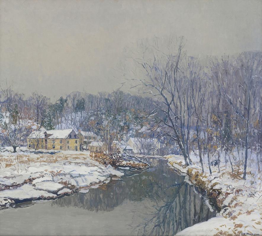 """Edward Willis Redfield """"The Mill in Winter"""",1921"""