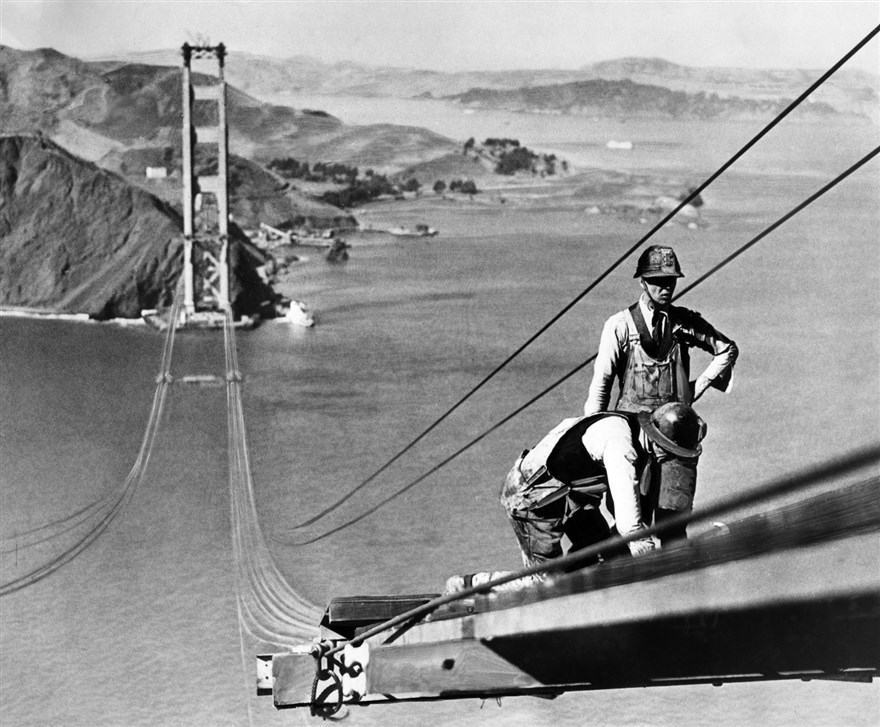 Building the Golden Gate Bridge, San Francisco, 1930s