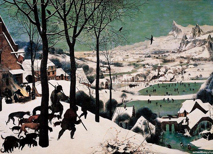 """Hunters in the Snow"" by Pieter Bruegel the Elder,1565"