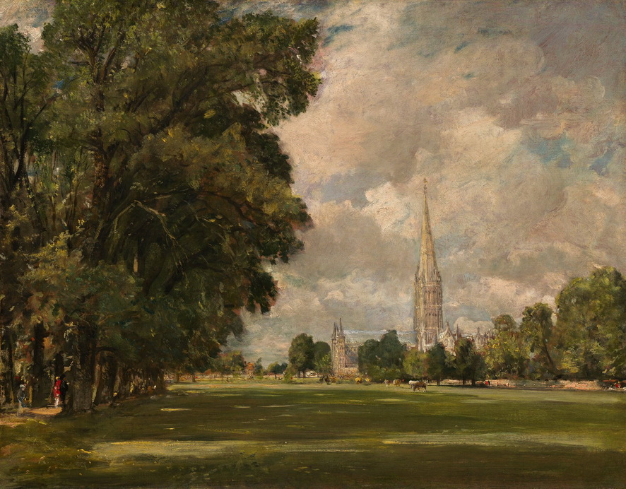 """John Constable's """"Salisbury Cathedral from Lower Marsh Close"""",1820"""