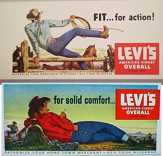 Vintage Levi's Ads