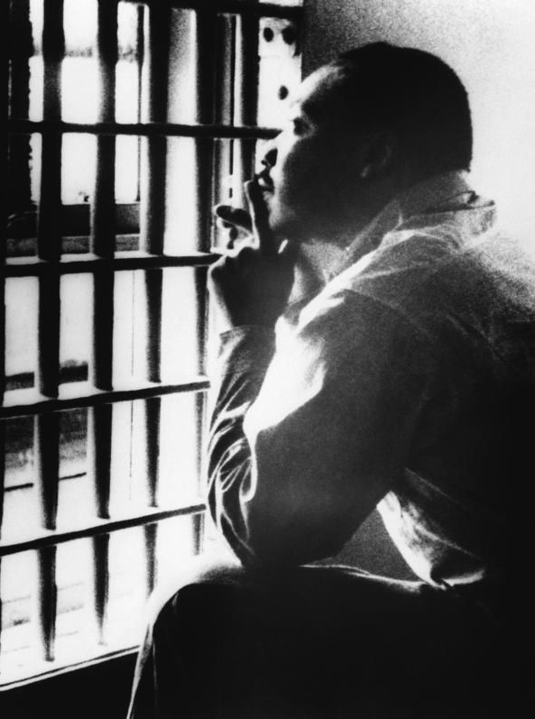 Dr. Martin Luther King Jr. in jail,1960s