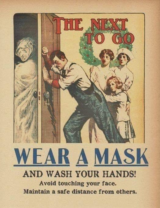 Public service announcement from the 1918 Pandemic