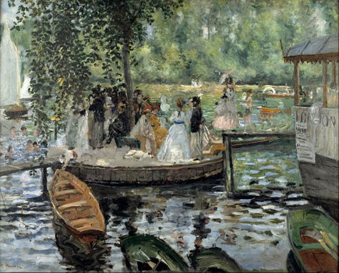 "Pierre-Auguste Renoir ""La Grenouillère"", 1869"