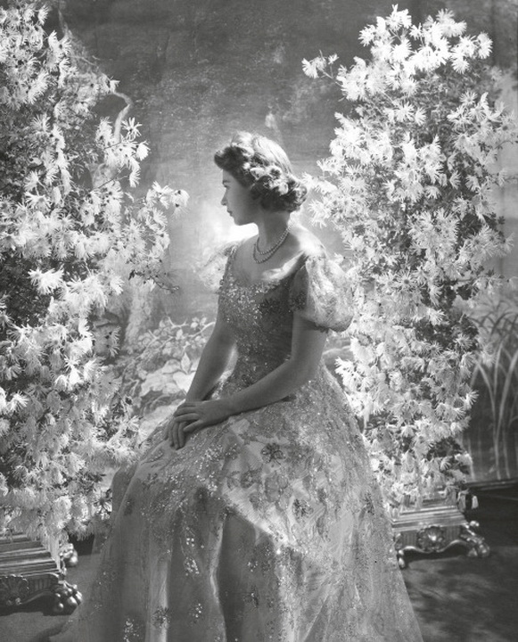 Princess Elizabeth, later Queen Elizabeth II, at Buckingham Palace, photo by Cecil Beaton,1945