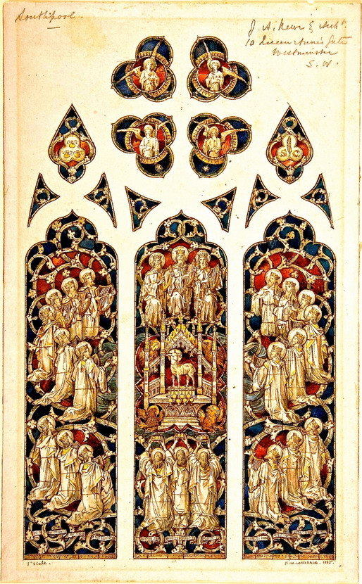 Design for a cathedralwindow