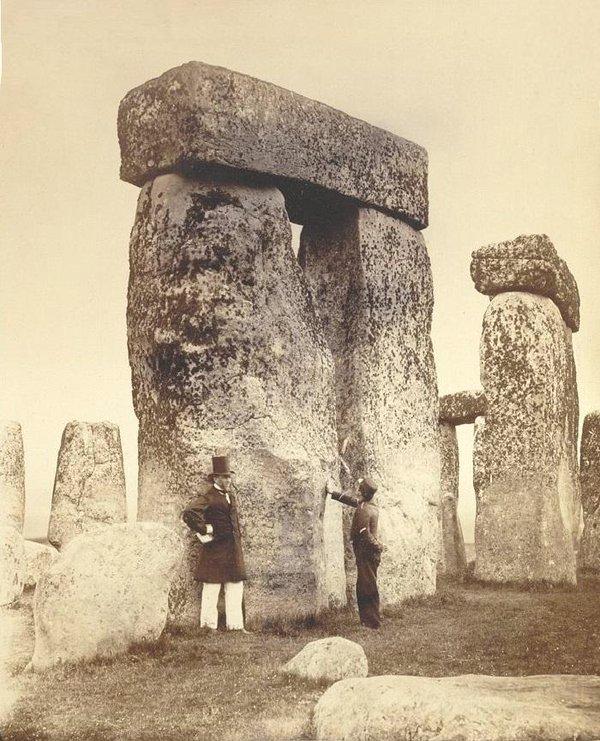 Visitors to Stonehenge,1800s