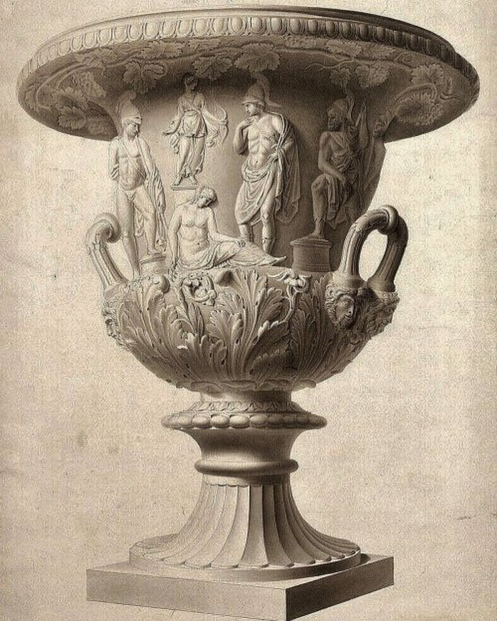 The Medici Vase by Gustav Heinrich Lorenz Schon,1800s
