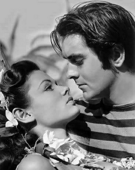 """Tyrone Power and Gene Tierney in """"Son of Fury"""",1942"""