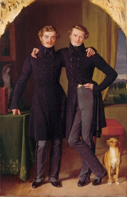 Heinrich Knauth and August Ludwig Schott – Double portrait of the artists, 1833