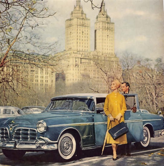 From an early 1950s car ad,NYC