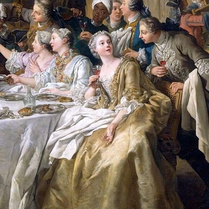 Banquet scene by Jean François de Troy, early1700s