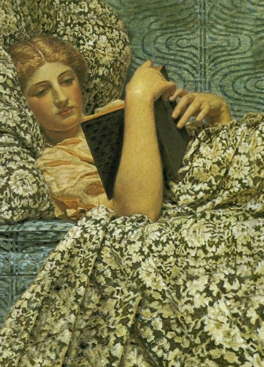Woman reading, by Albert Joseph Moore,1800s