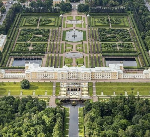 Peterhof Palace and gardens, St. Petersburg,Russia