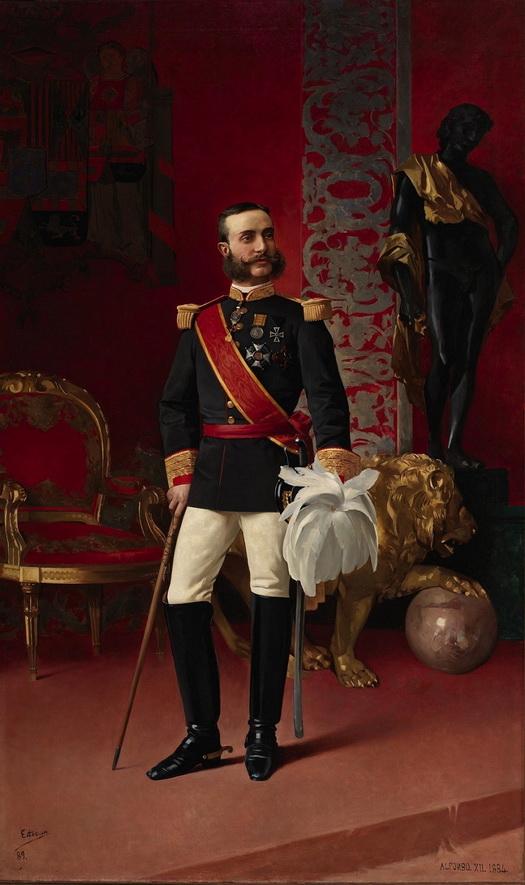 """Enrique Estevan y Vicente, """"El Rey Alfonso XII de España"""" (King of Spain),1884"""