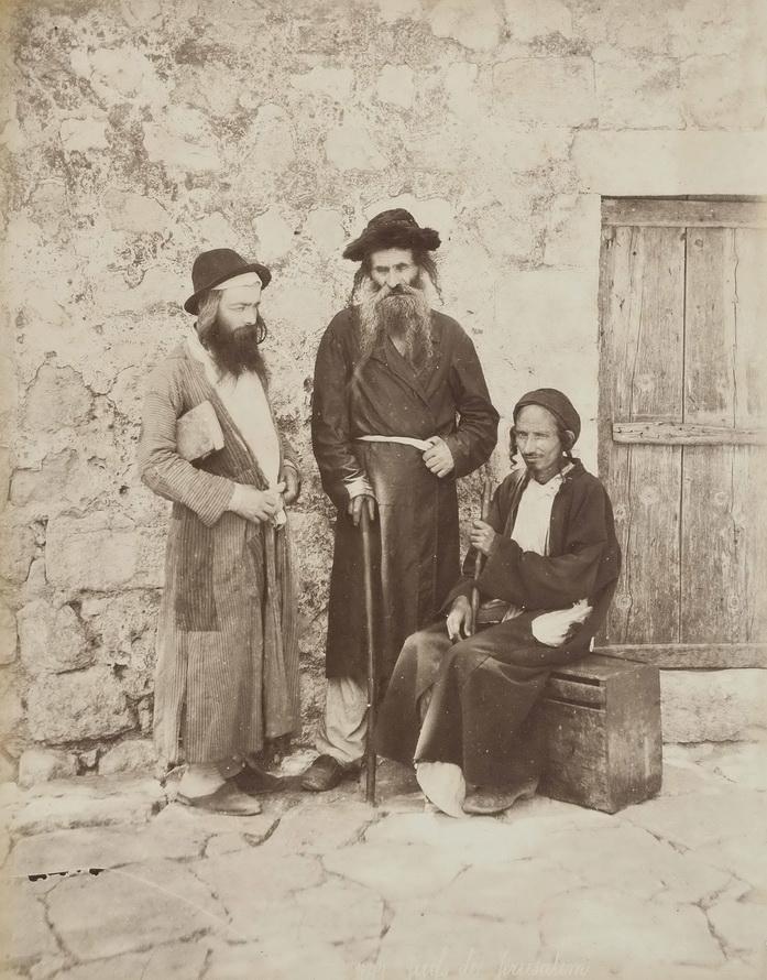Jewish men in Palestine, by French photographer Félix Adrien Bonfils, circa1880