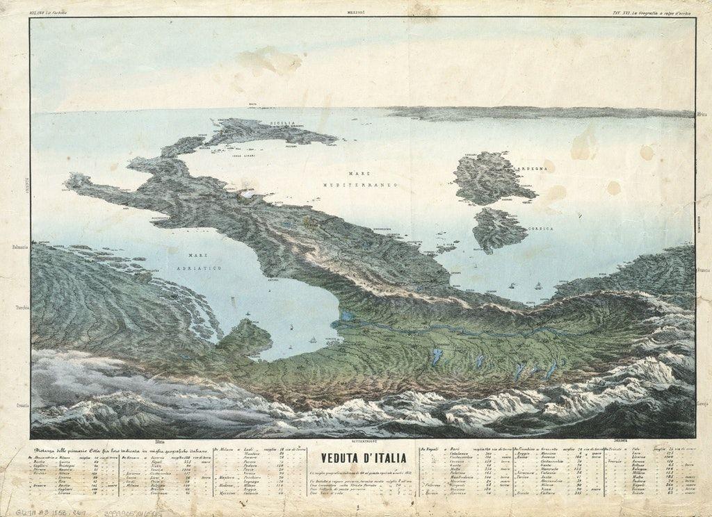 Veduta d'Italia, 1850s